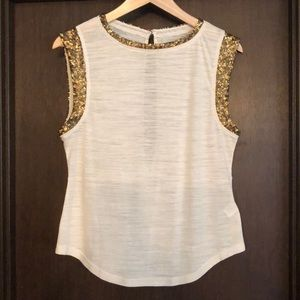 Hi-Line from Madewell Gold Sequin Slub Tank M